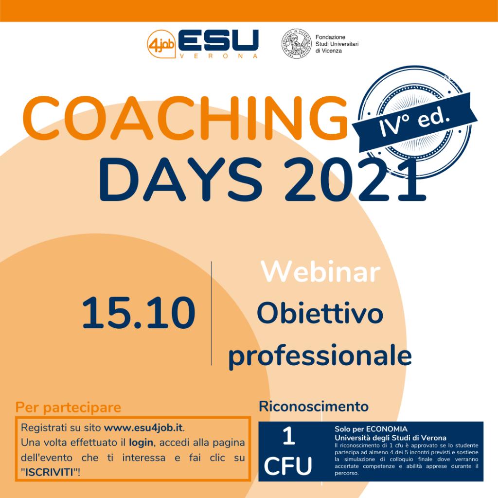 Coaching Days FSU | IV Edizione | Obiettivo Professionale
