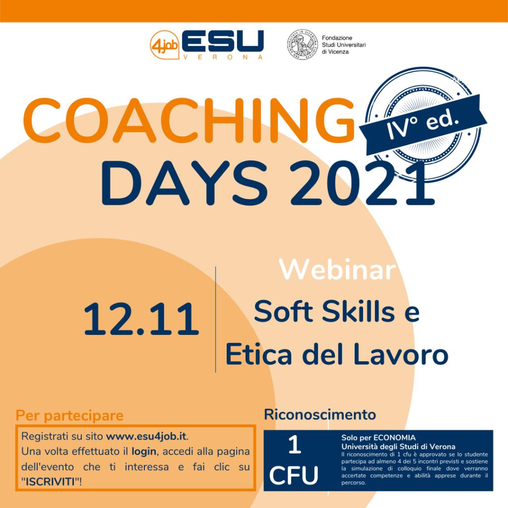 Coaching Days FSU | IV Edizione | Soft Skills e Etica del Lavoro